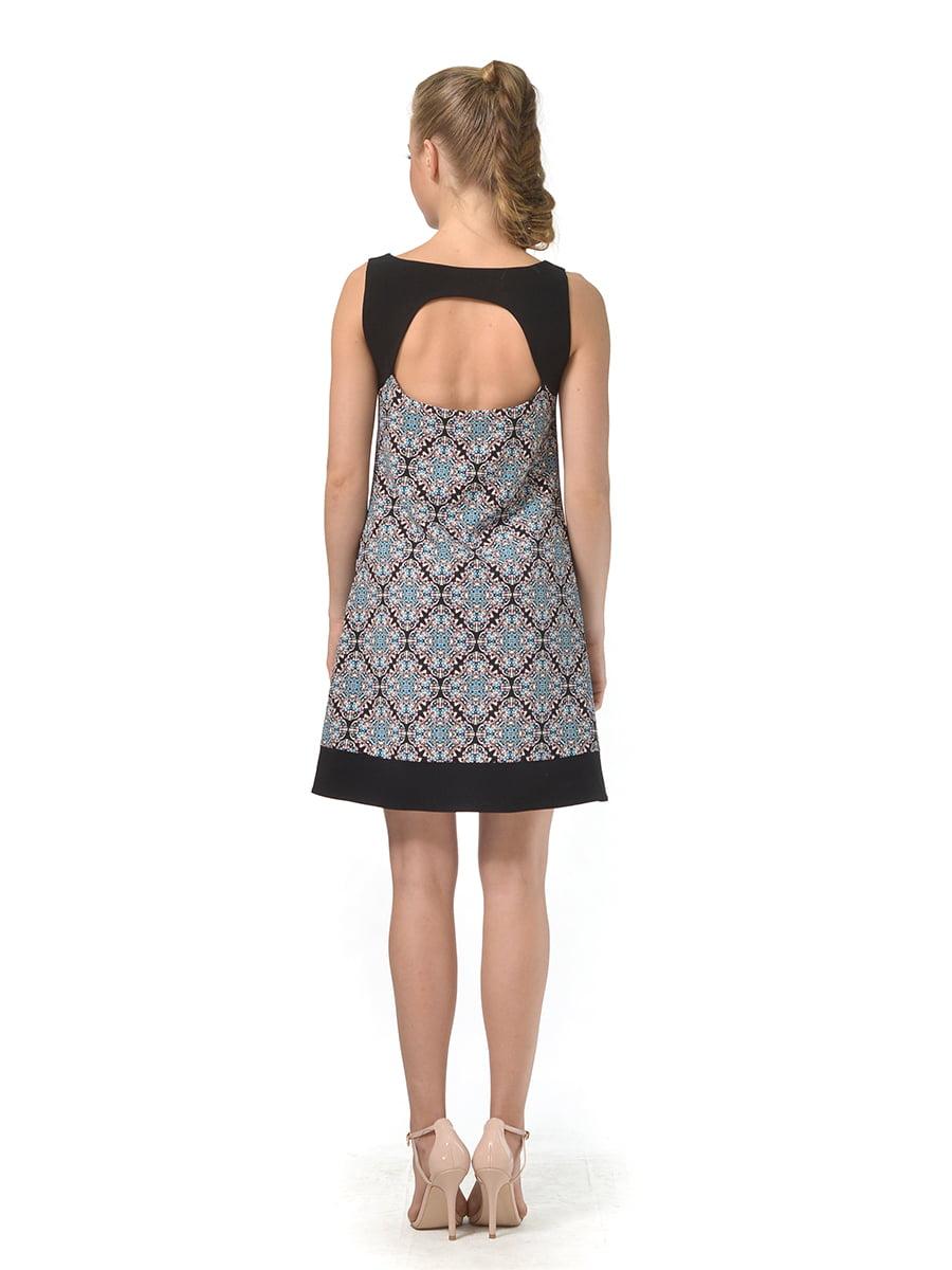 Платье черное в принт | 4527035 | фото 2