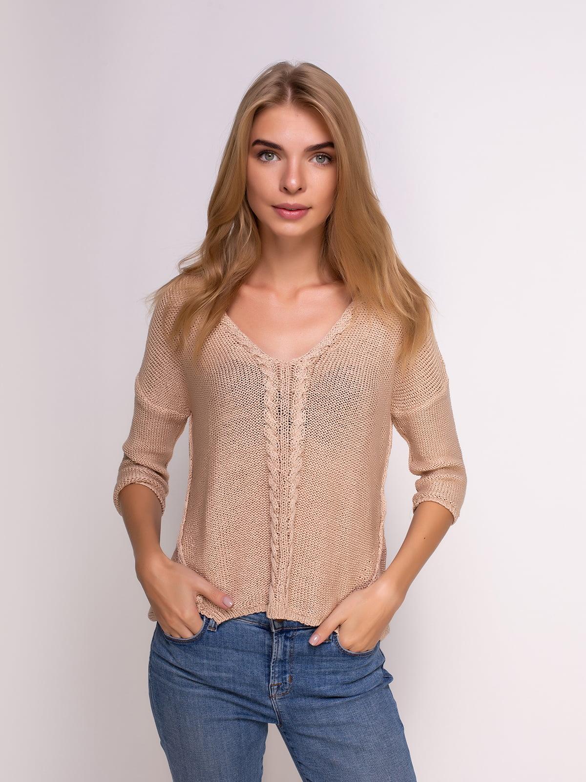 Пуловер кавового кольору | 2914377