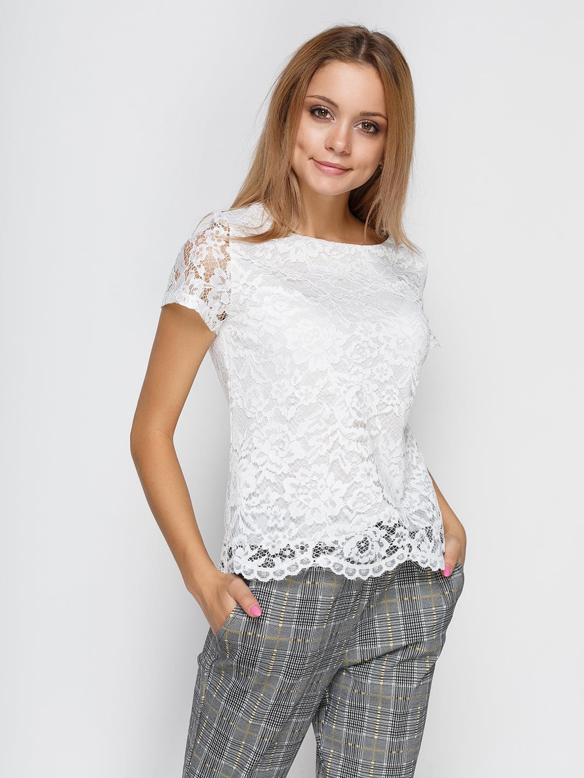 Блуза молочного цвета   4534737