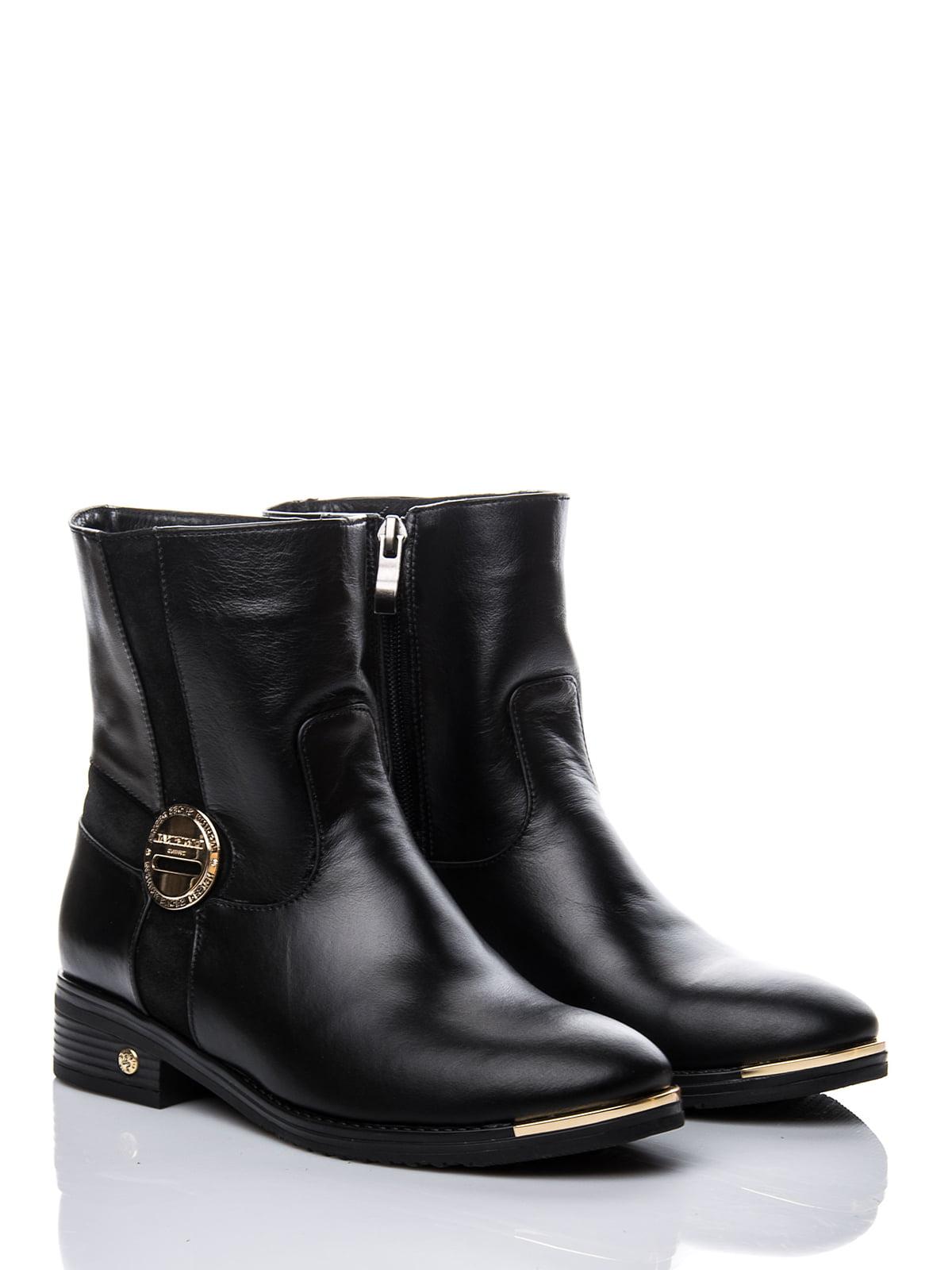 Ботинки черные с декором | 1921777