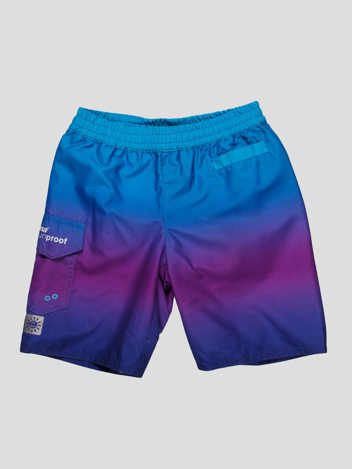 Шорти бірюзово-фіолетові пляжні | 81401