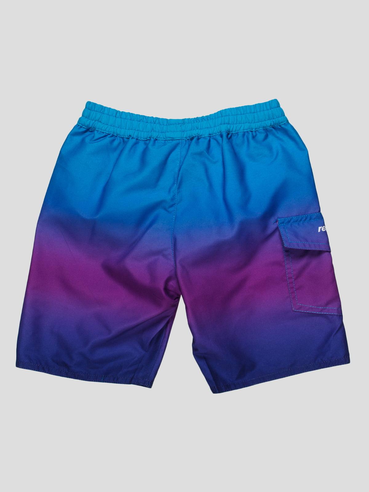 Шорти бірюзово-фіолетові пляжні | 81401 | фото 2