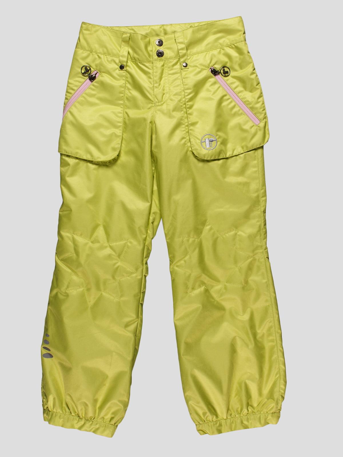 Штани лимонного кольору | 4398057