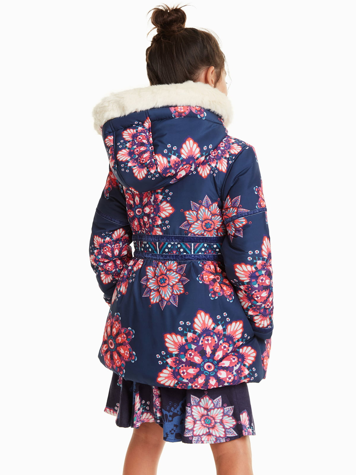 Куртка синяя в цветочный принт   4542784   фото 2