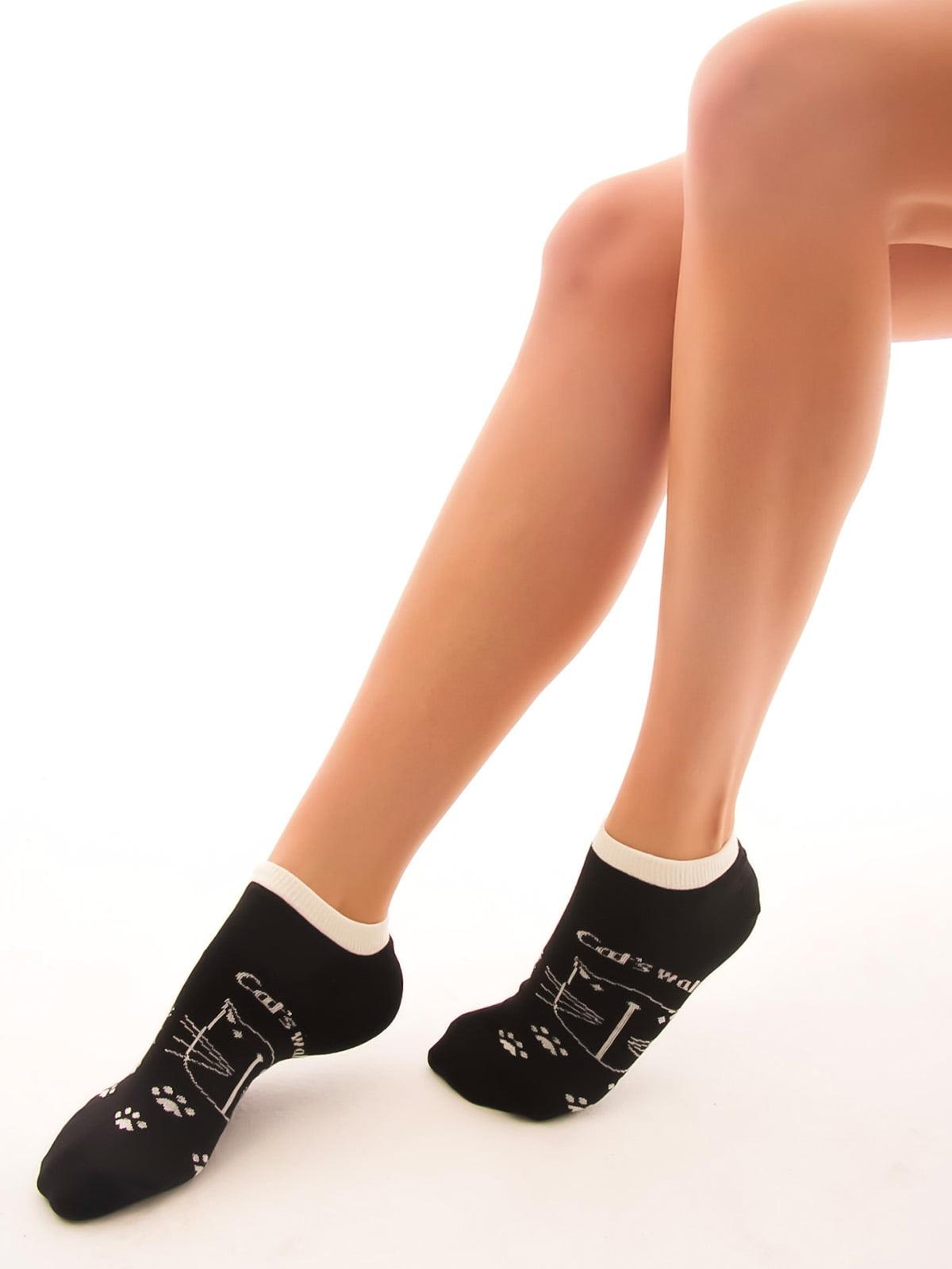 Шкарпетки чорні в принт | 2762344 | фото 2
