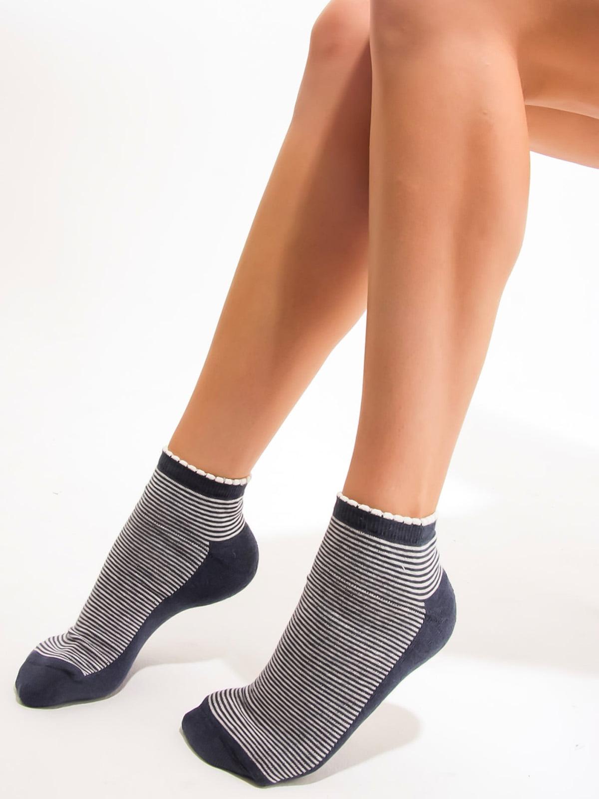 Шкарпетки сині в смужку | 3563241