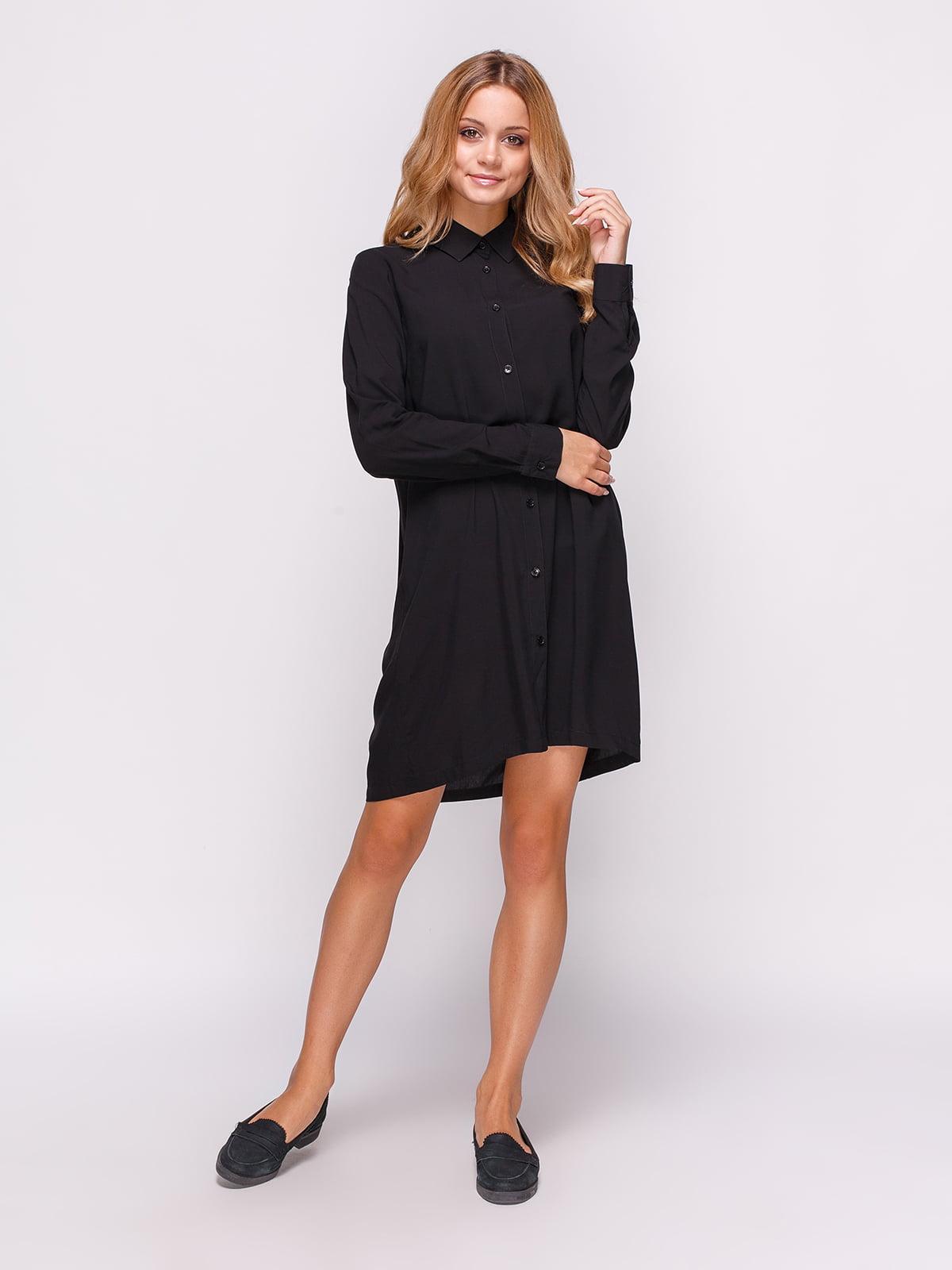 Сукня-сорочка чорна | 4547652