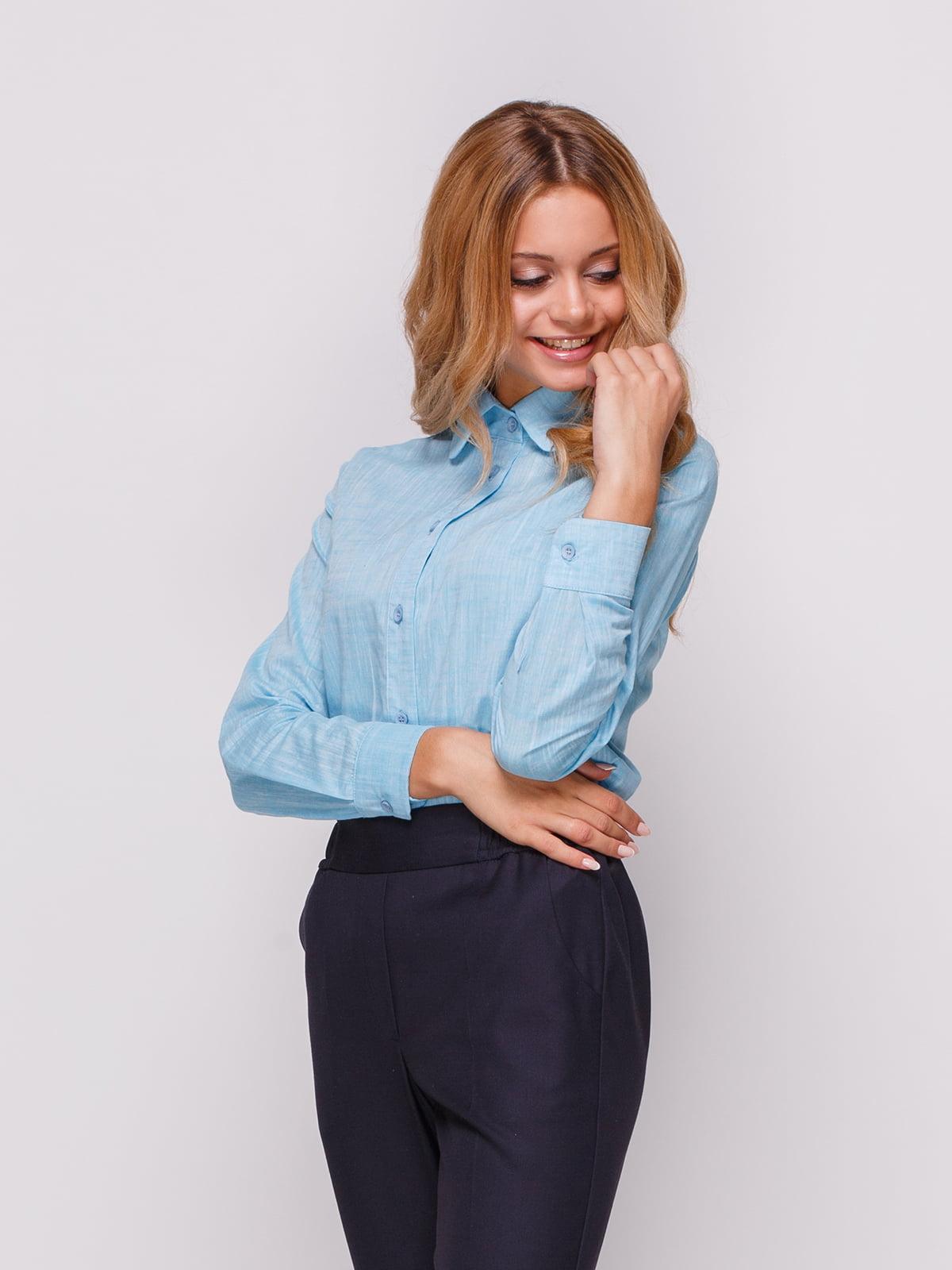 Рубашка голубая | 4547656 | фото 3