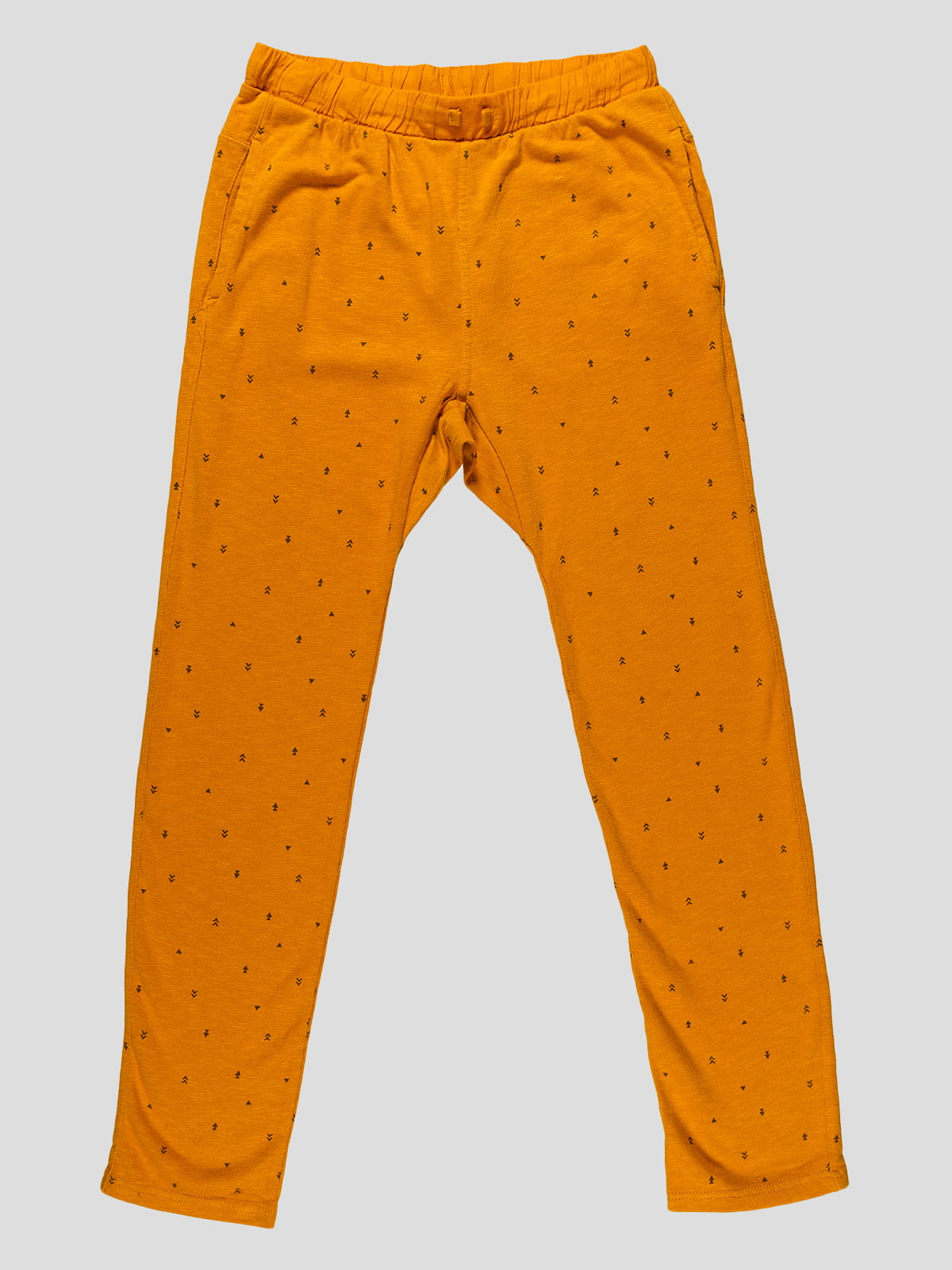 Штани помаранчеві в принт   4506436