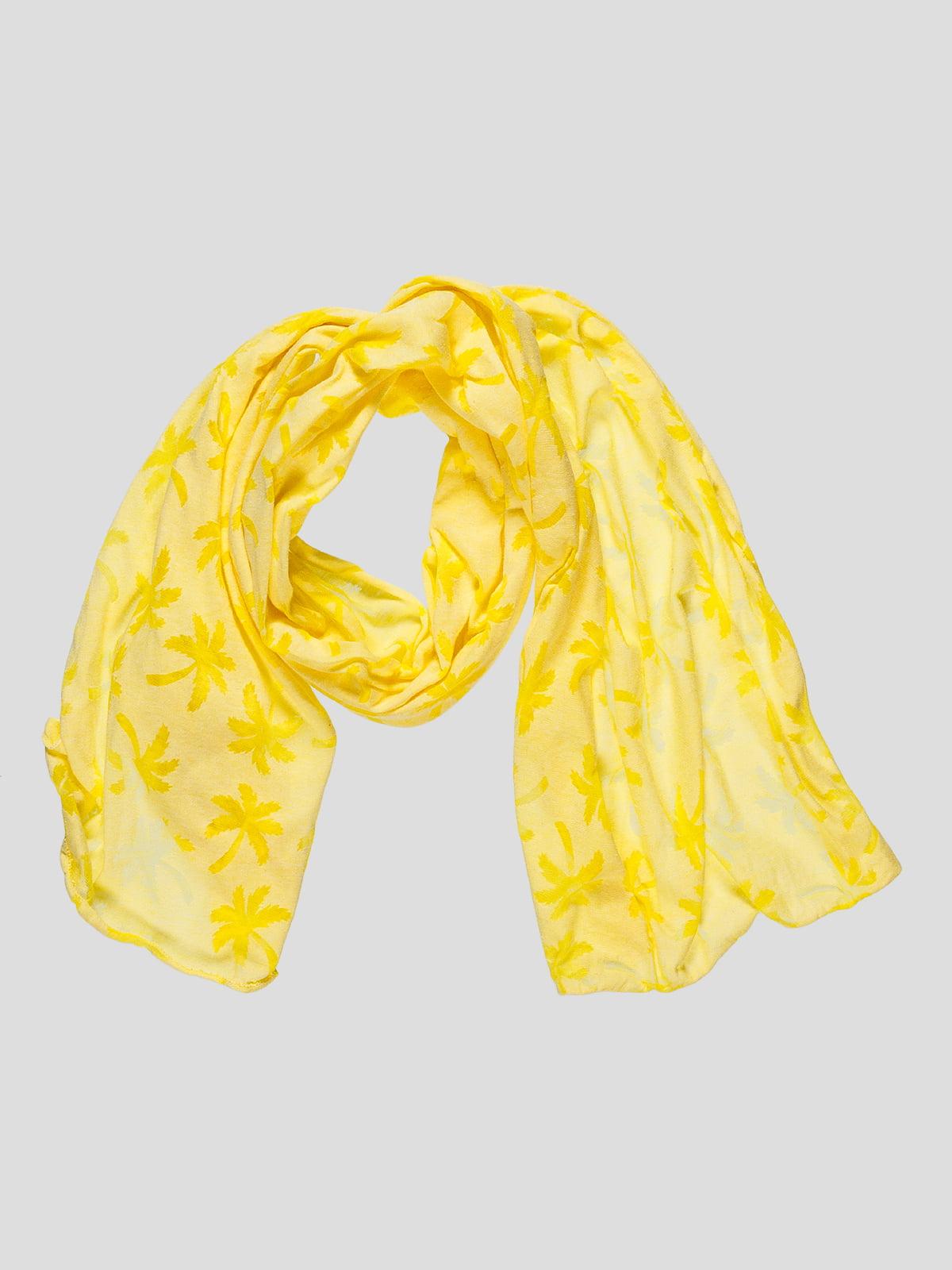 Шарф желтый в принт | 4507784