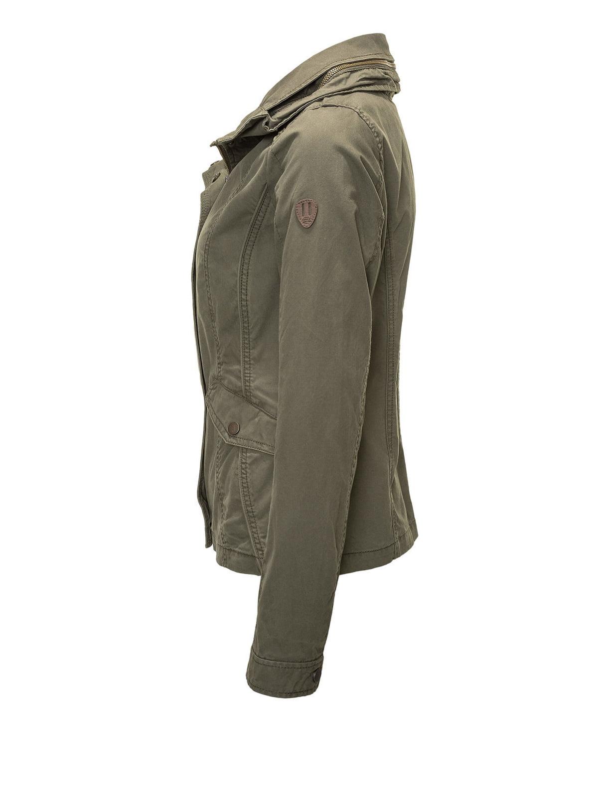 Куртка цвета хаки | 4547939 | фото 2
