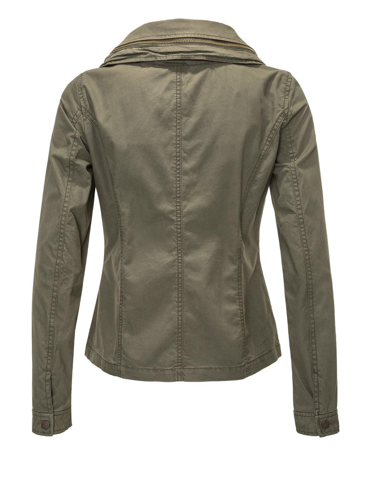 Куртка цвета хаки | 4547939 | фото 3