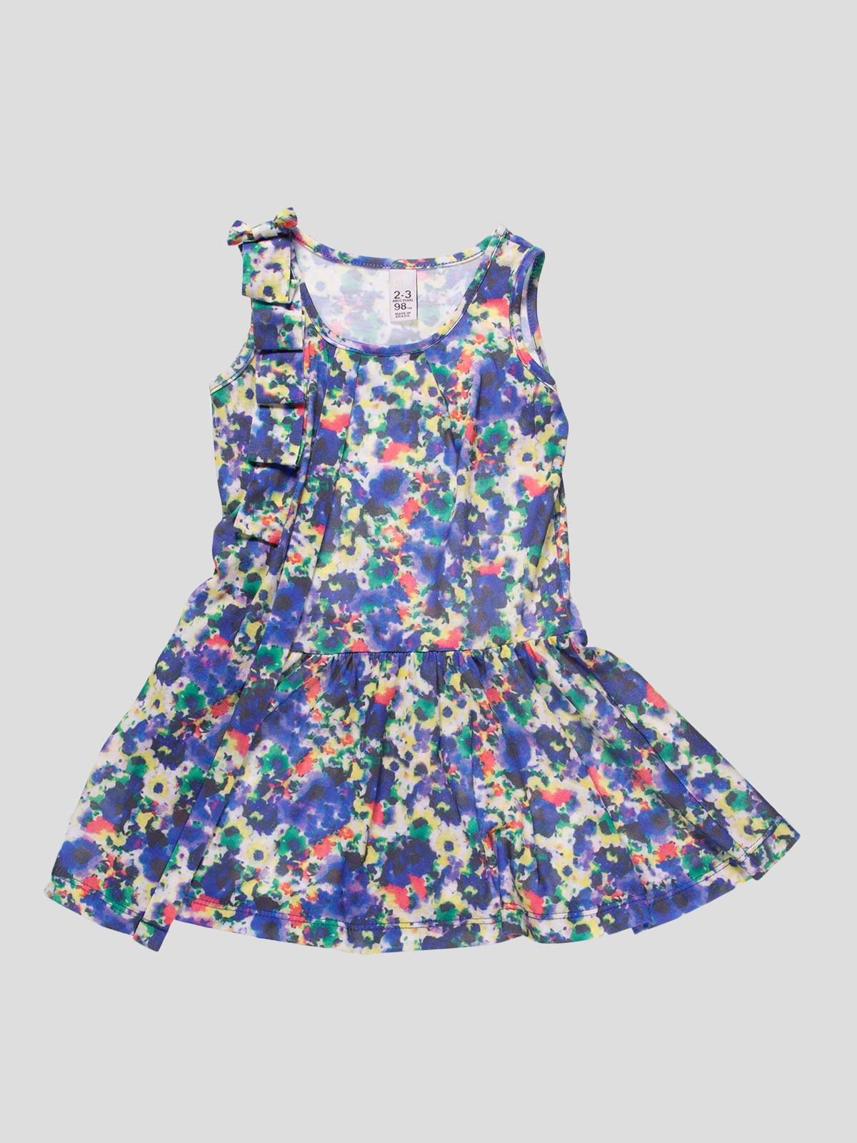 Платье в абстрактный принт | 4508031