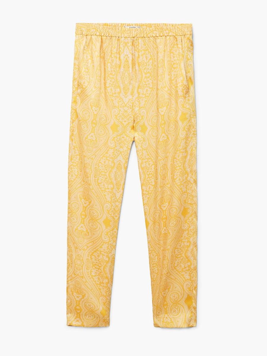 Штани жовті в принт | 4549257