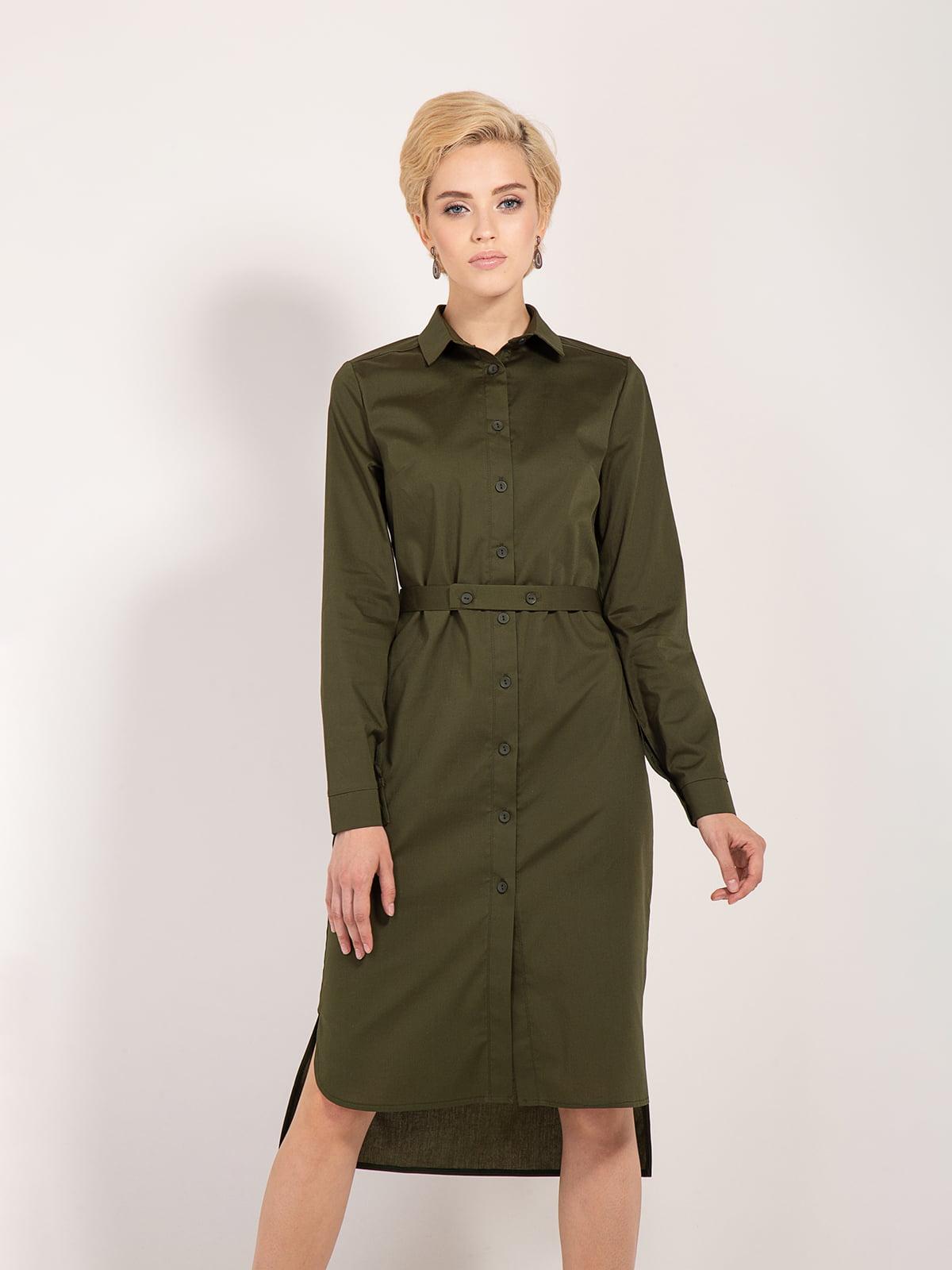 Платье цвета хаки — Bessa 22a67a9876410