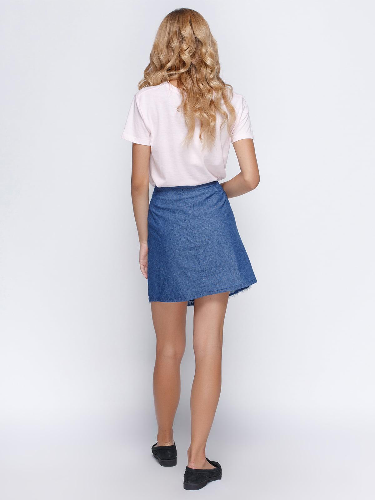 Юбка голубая джинсовая | 4523357 | фото 3