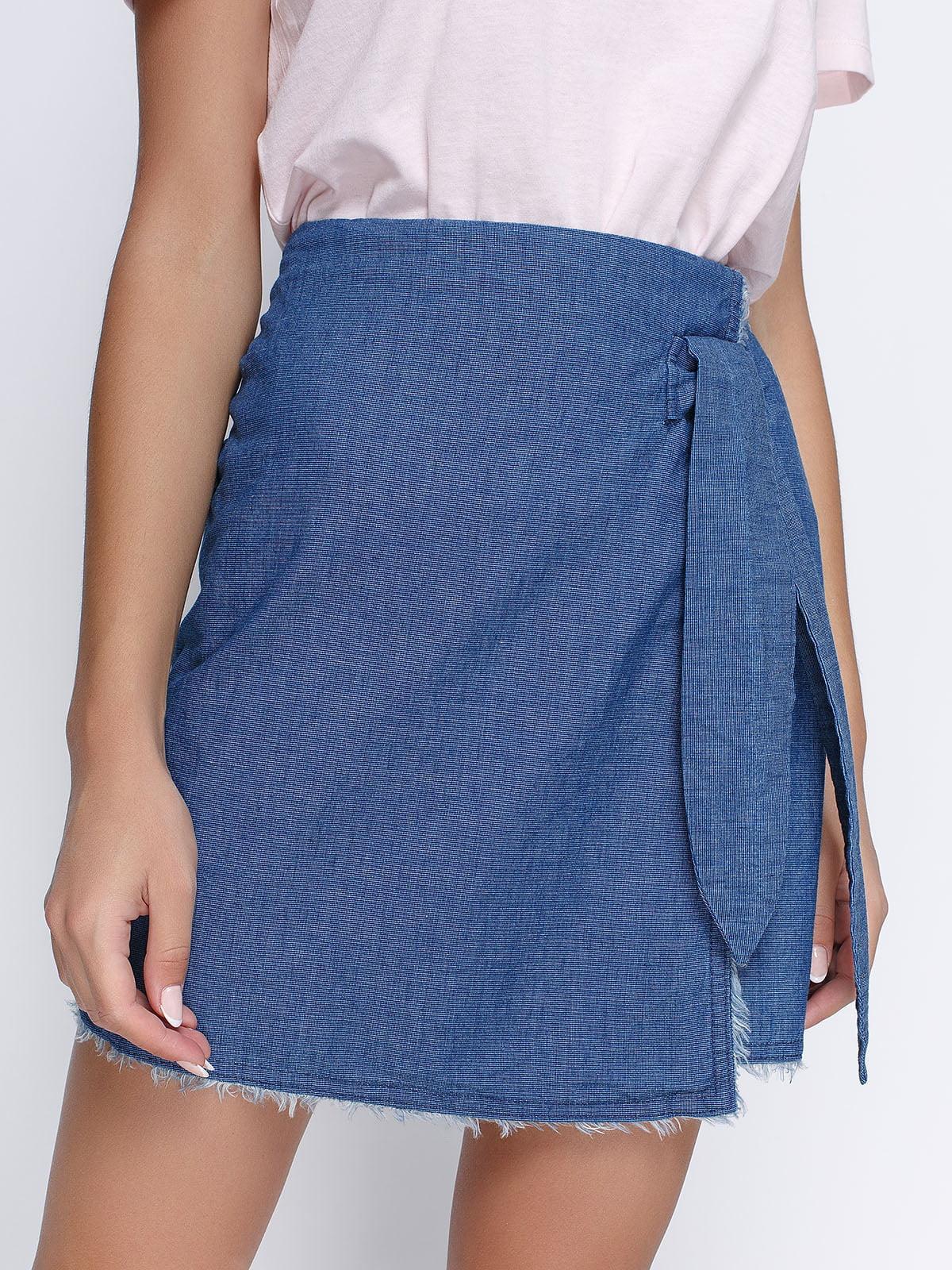 Юбка голубая джинсовая | 4523357 | фото 4