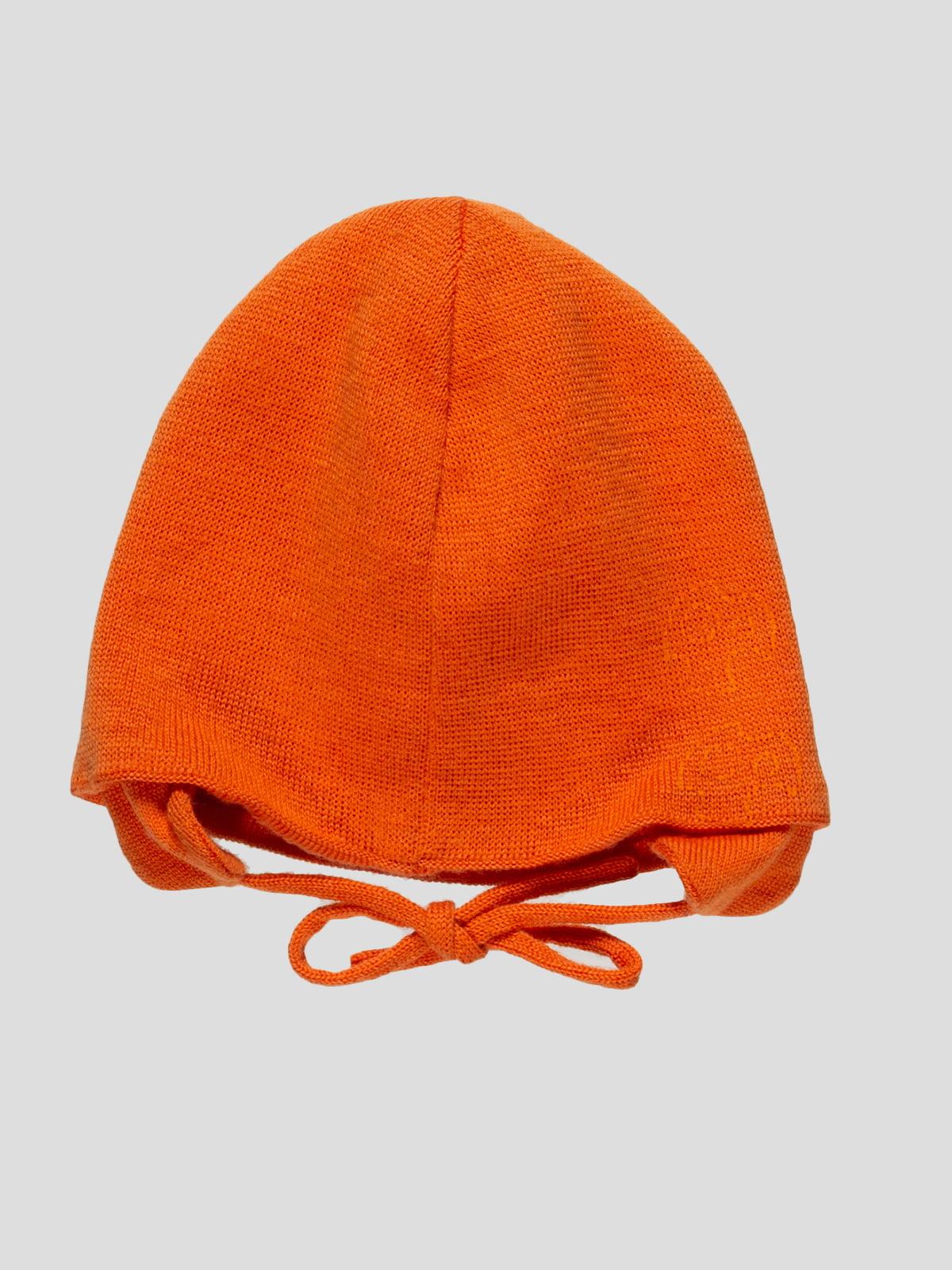 Шапка помаранчева з принтом | 4398254 | фото 2