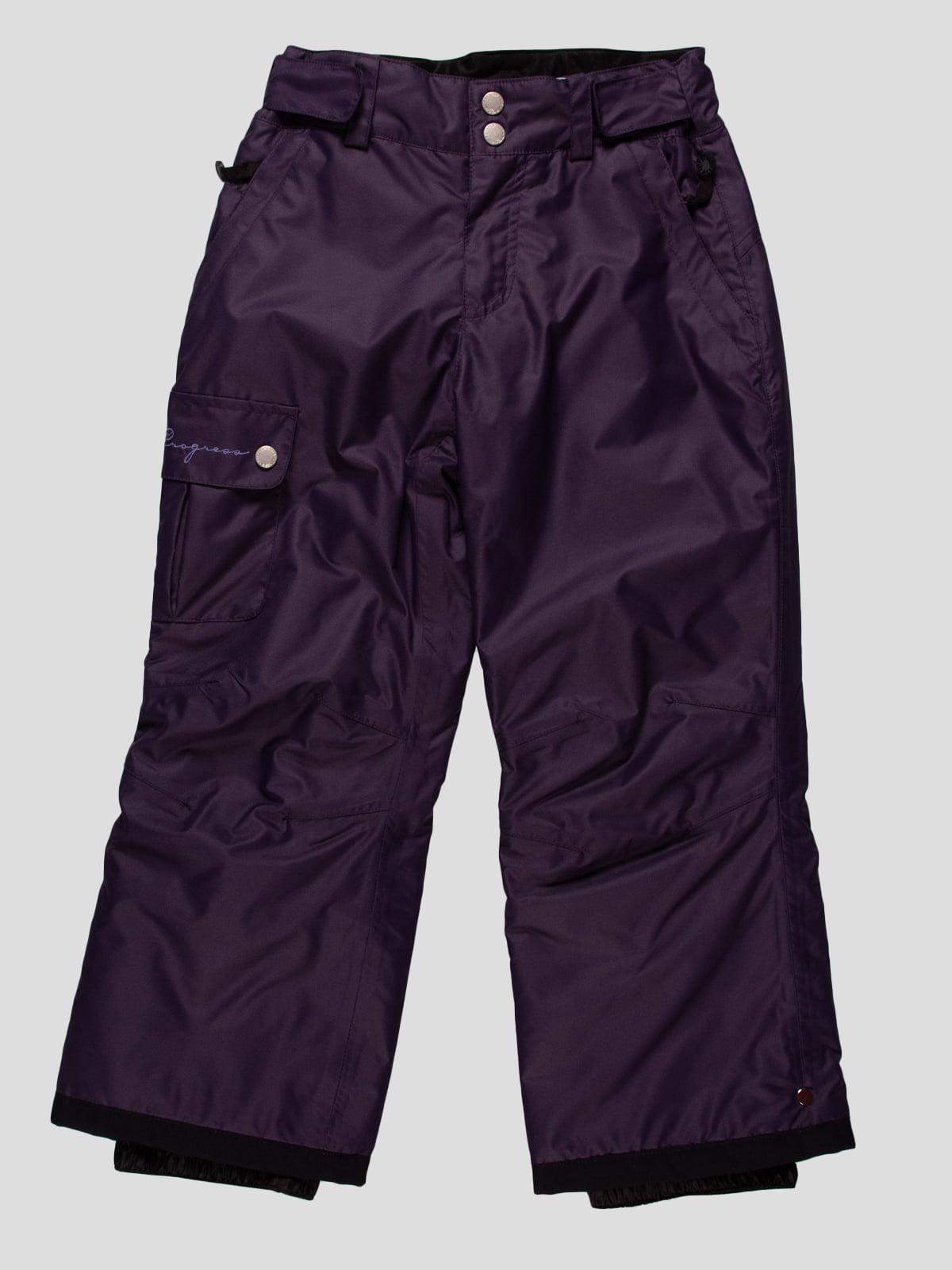 Брюки темно-фиолетовые | 164887