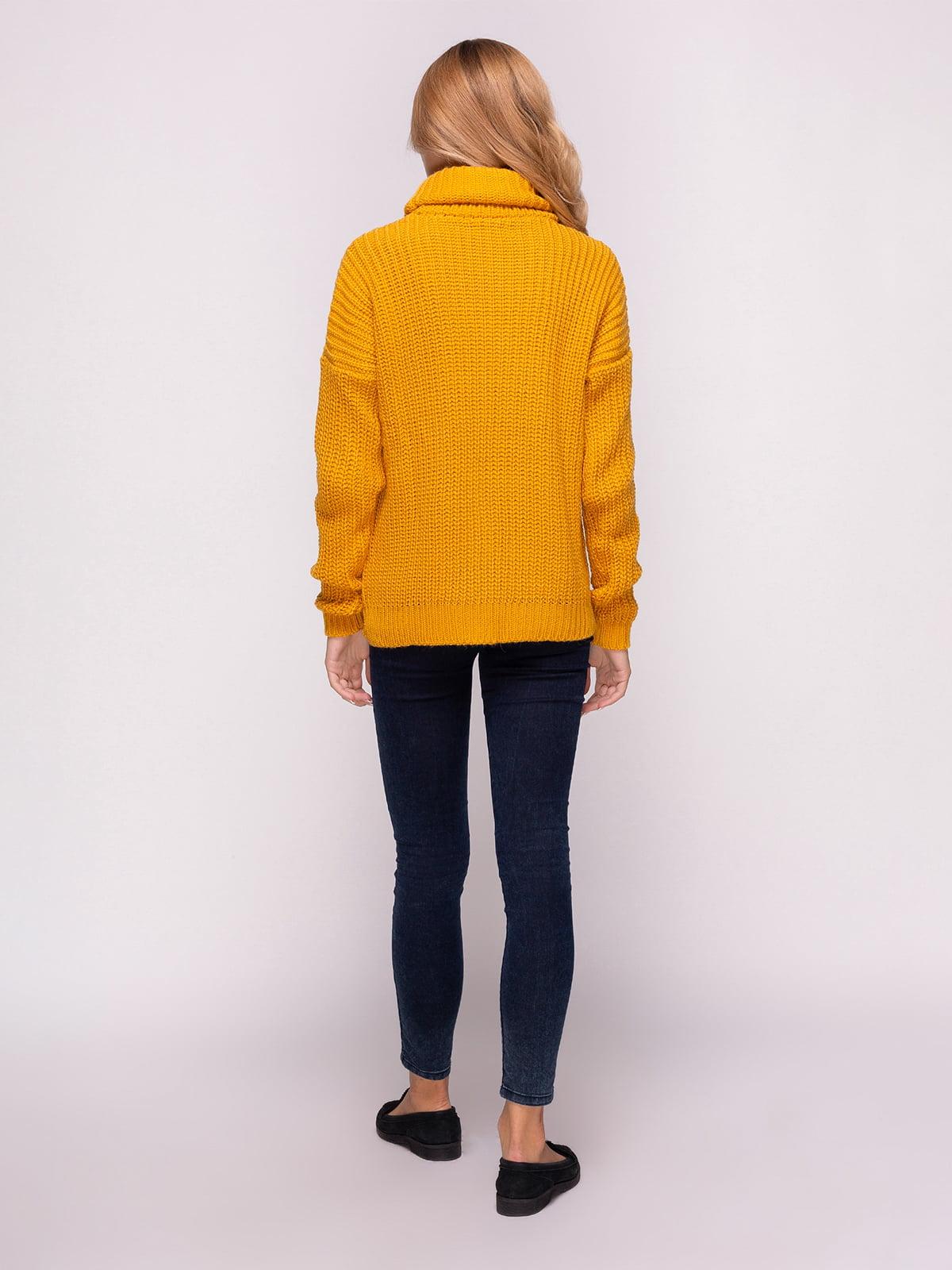 Свитер темно-желтый | 4566965 | фото 3