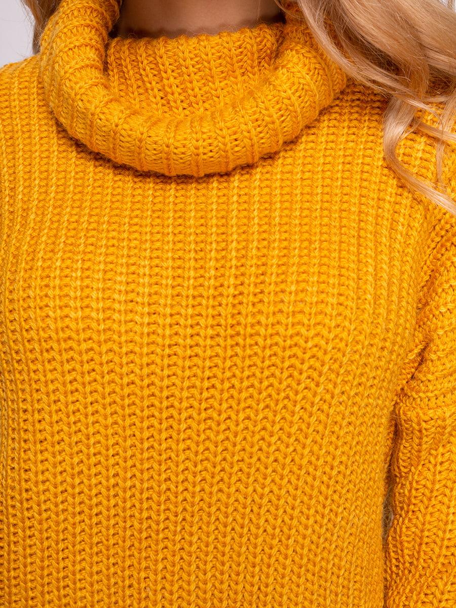 Свитер темно-желтый | 4566965 | фото 4