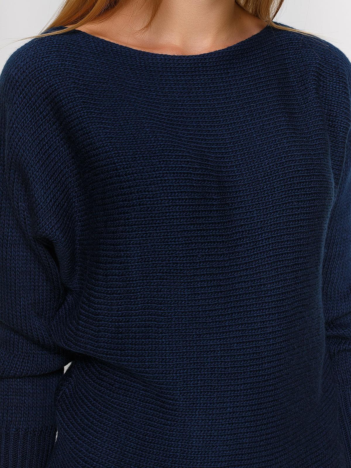 Джемпер темно-синий   4567016   фото 4