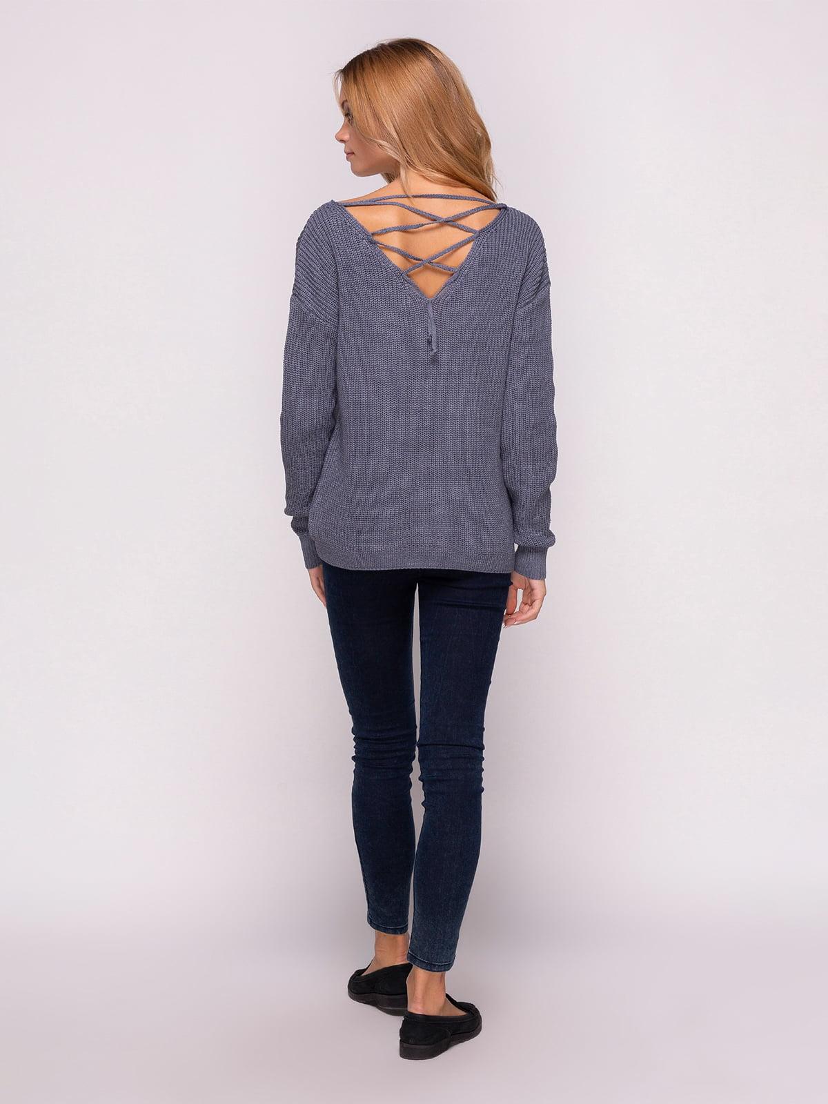 Пуловер димного кольору | 4567061 | фото 3