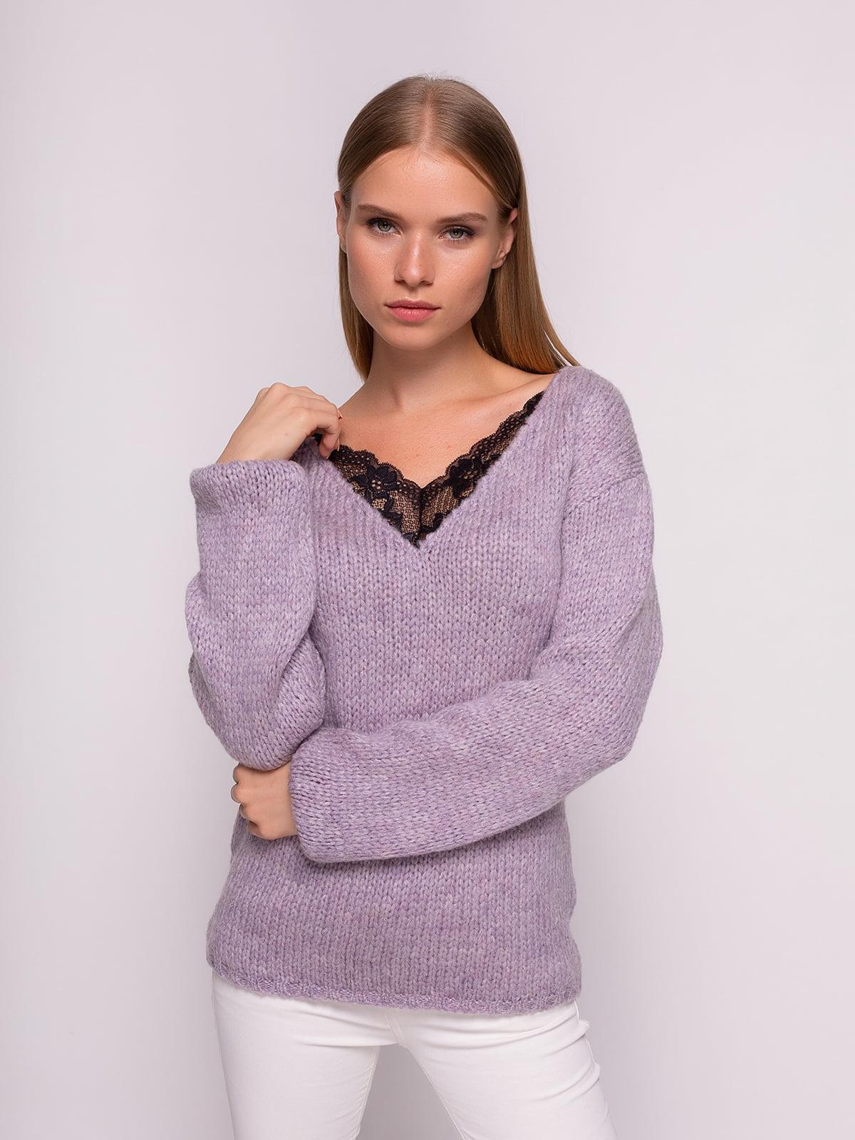 Пуловер лавандового кольору | 4567064