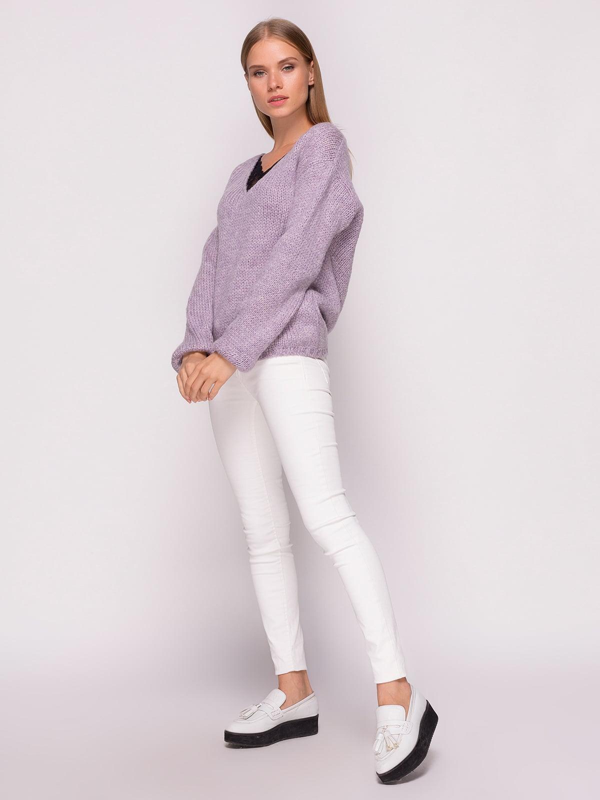 Пуловер лавандового кольору | 4567064 | фото 2