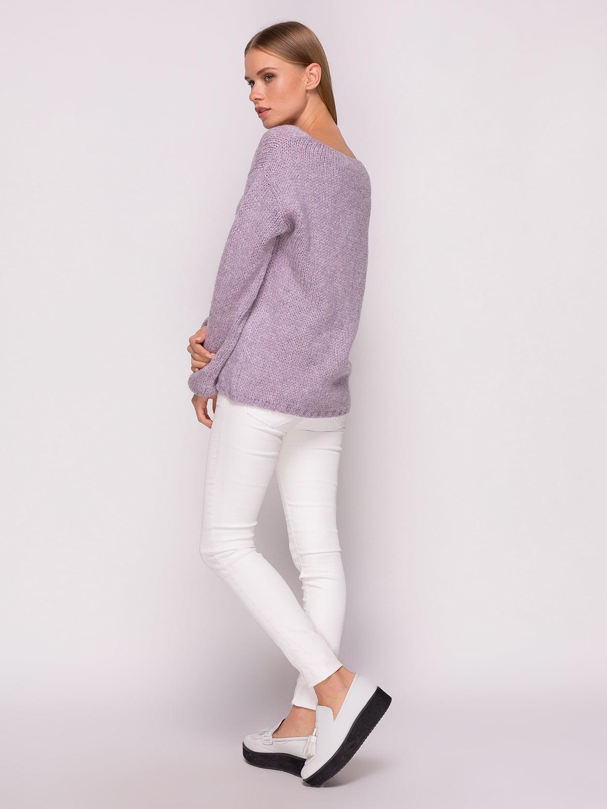 Пуловер лавандового кольору | 4567064 | фото 3