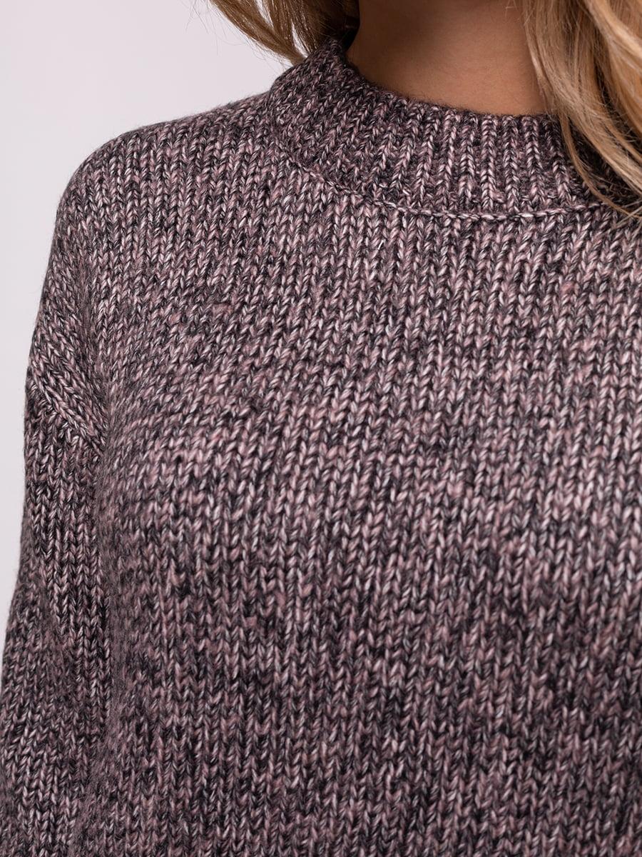 Джемпер чорно-рожевий меланжевий   4567085   фото 4