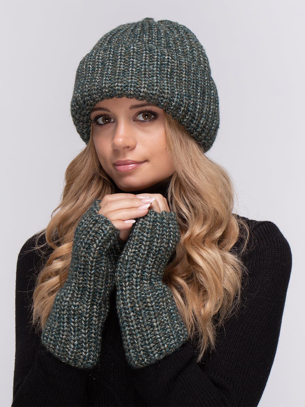 Комплект: шапка и митенки | 4567180