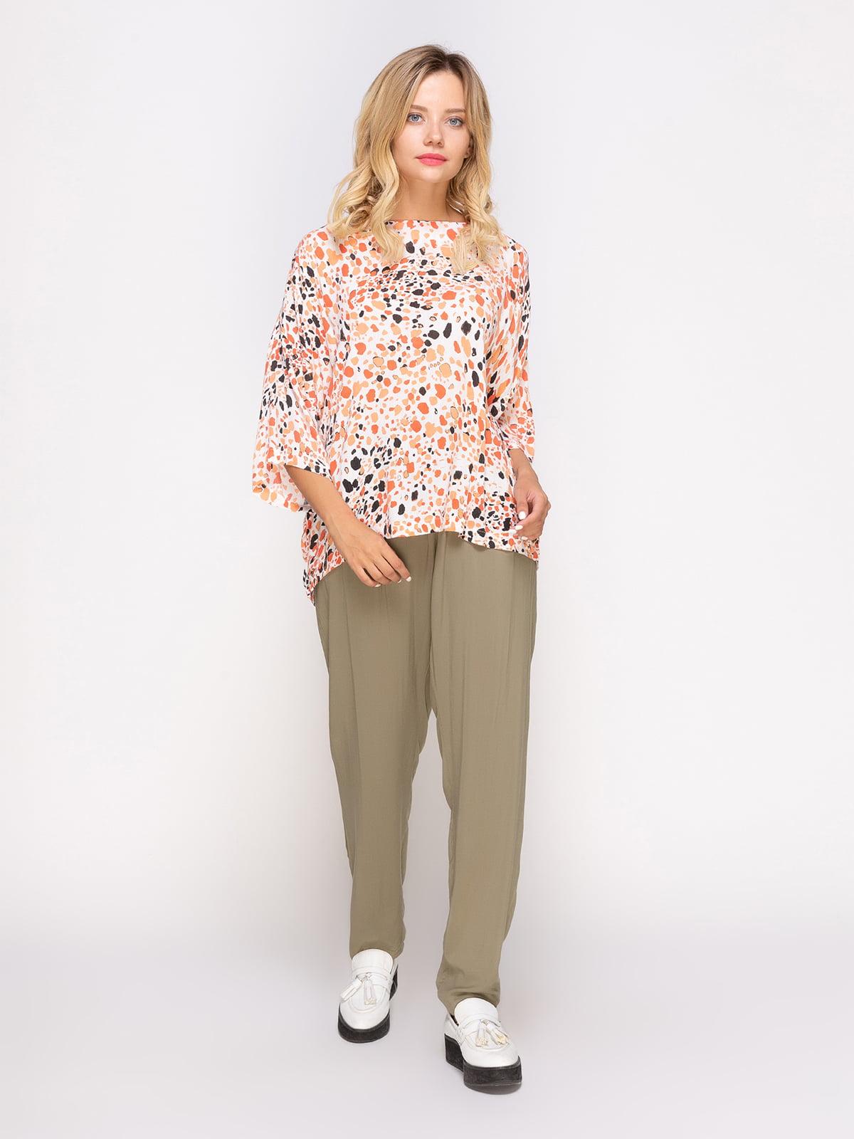 Блуза в принт | 4560050 | фото 2