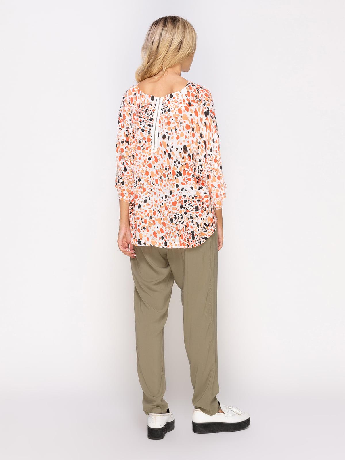 Блуза в принт | 4560050 | фото 3