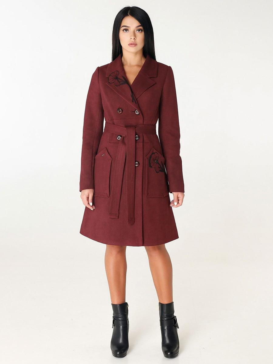 Пальто цегляного кольору | 4450208