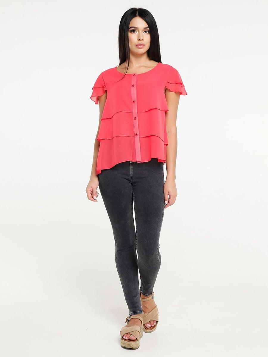 Блуза ярко-розовая | 4498649