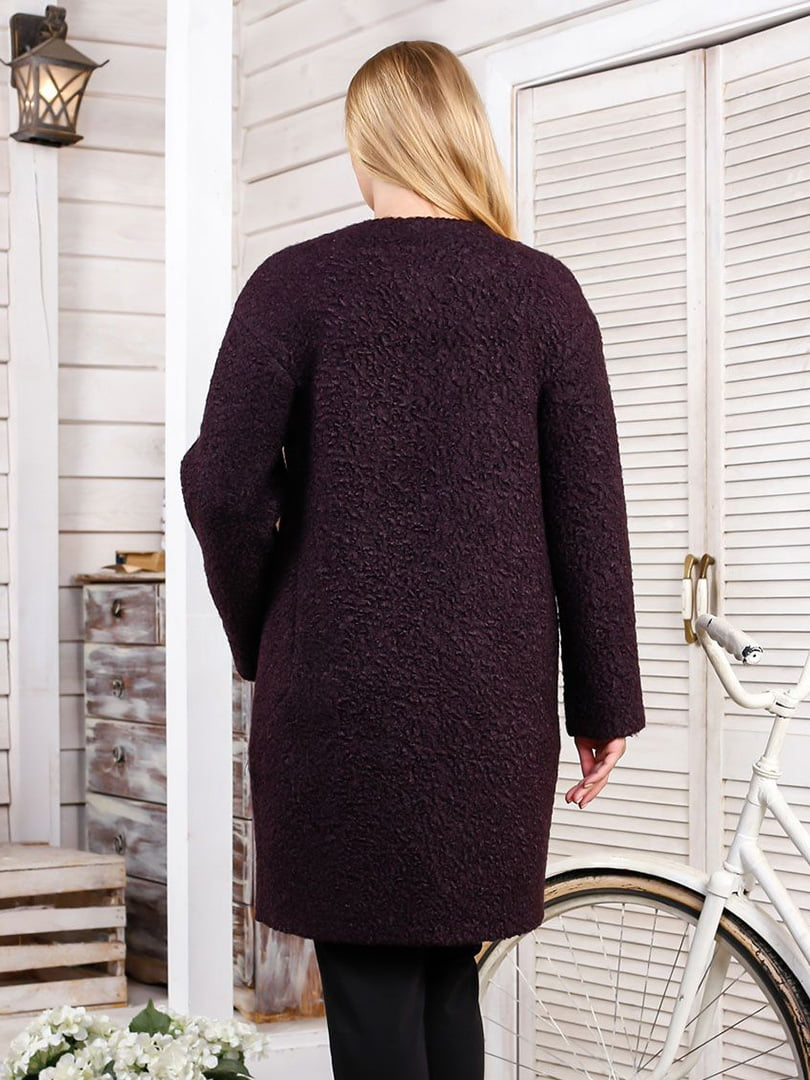 Пальто темно-фиолетовое | 4498651 | фото 2