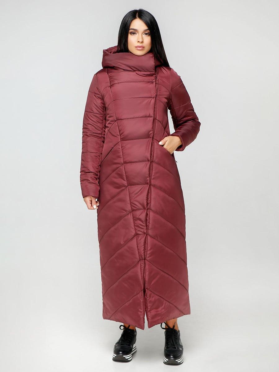 Пальто бордовое | 4531167