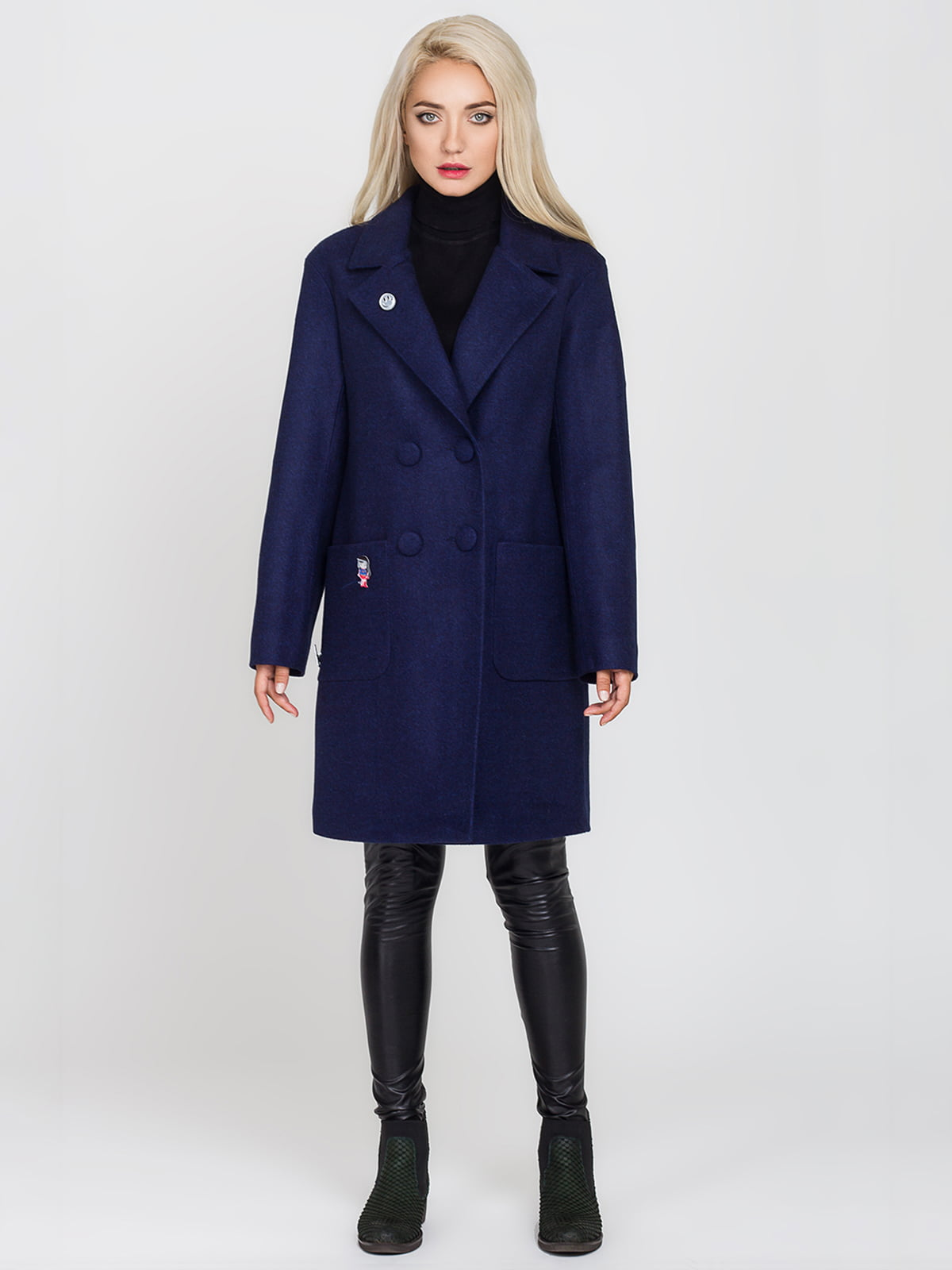 Пальто синє   4575378