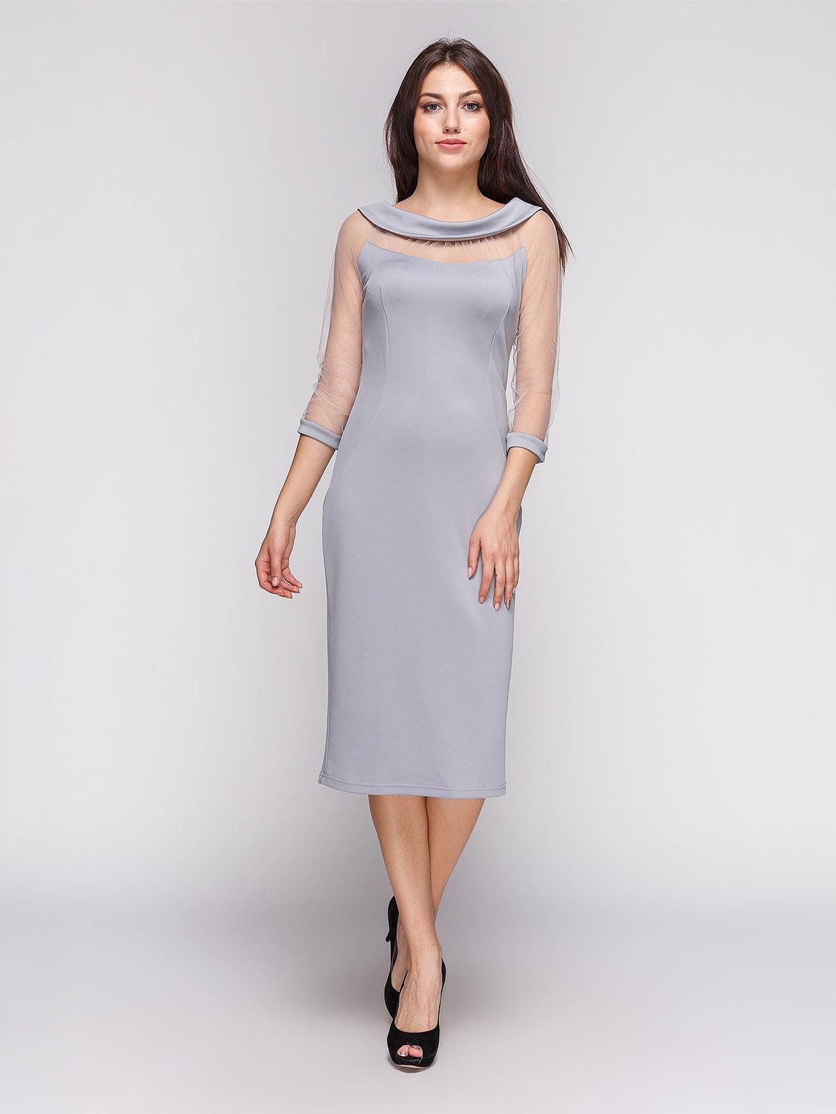 Платье серое | 3851940