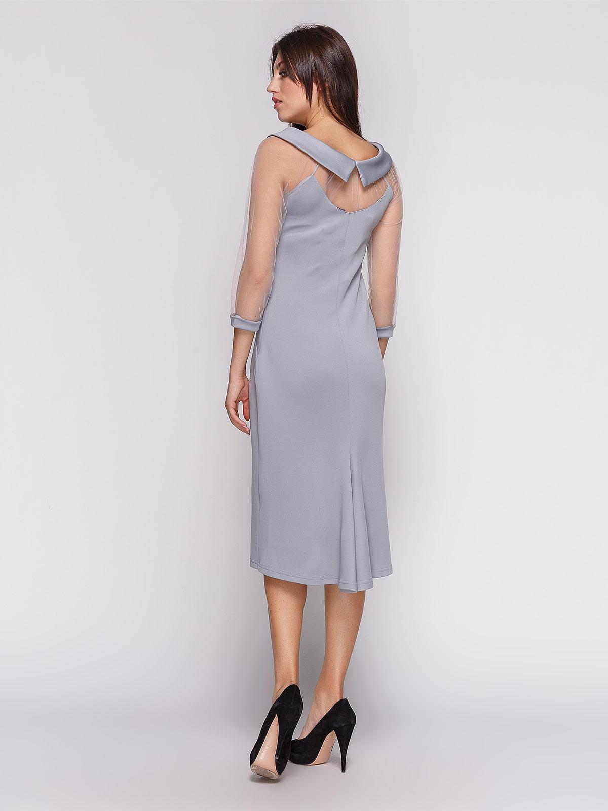 Платье серое | 3851940 | фото 2