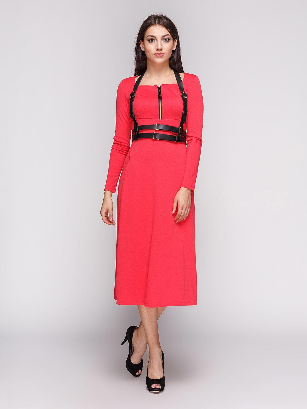 Платье коралловое | 3683580