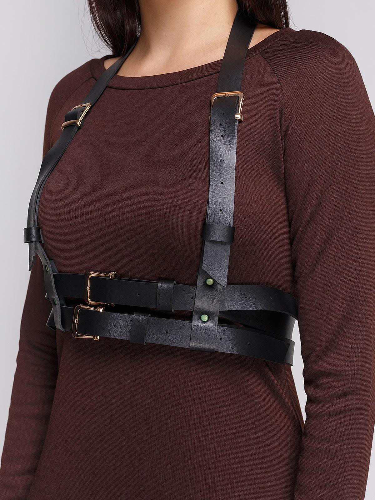 Платье коричневое с портупеей   3665345   фото 3