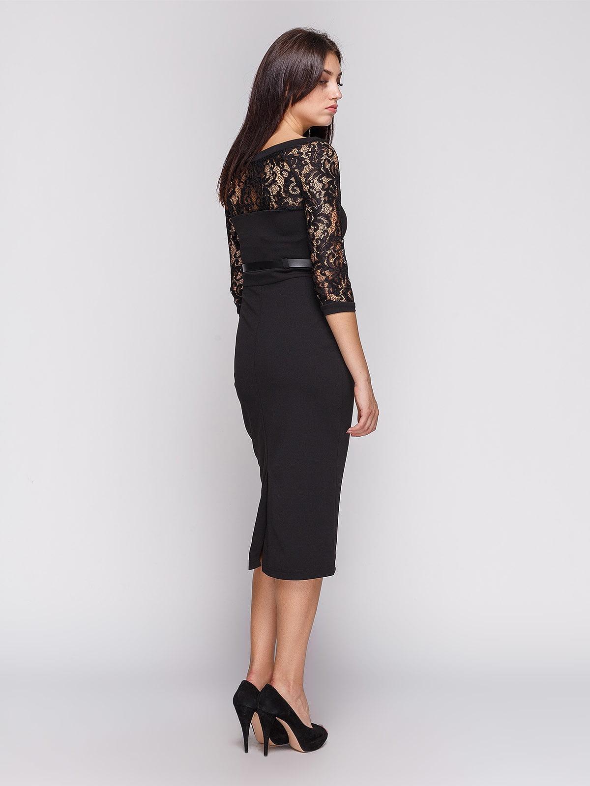 Платье черное | 3851931 | фото 2