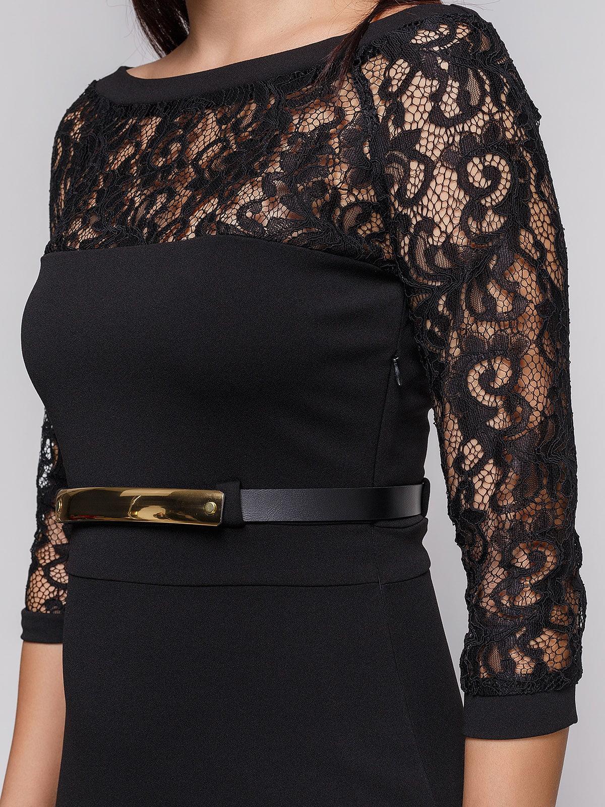 Платье черное | 3851931 | фото 3