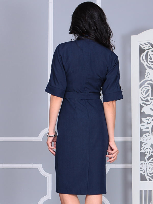 Платье темно-синее | 4579741 | фото 2