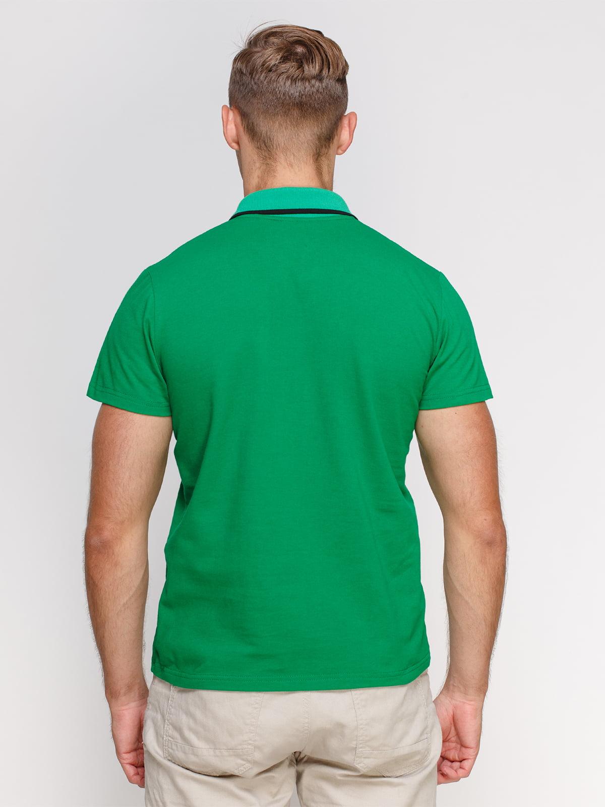 Футболка-поло зелена з принтом | 4578510 | фото 2
