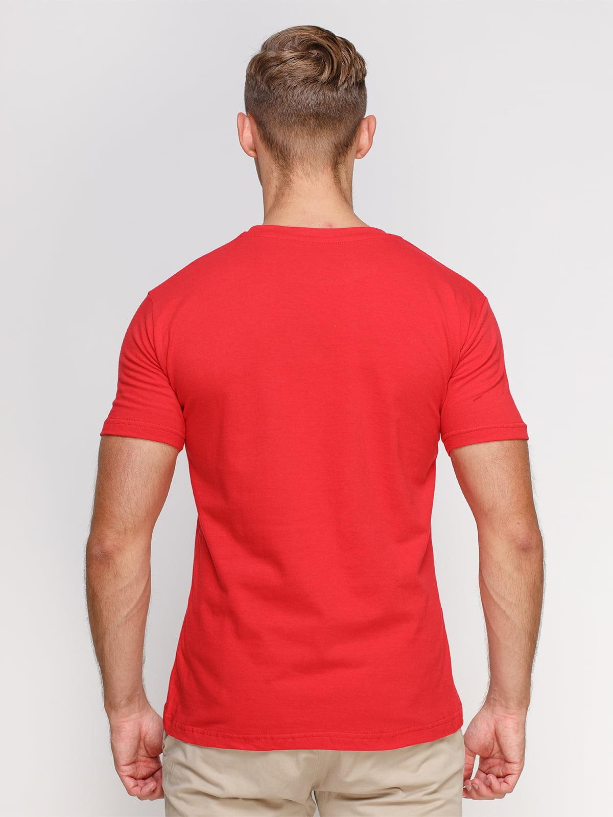Футболка красная с принтом | 4578668 | фото 2