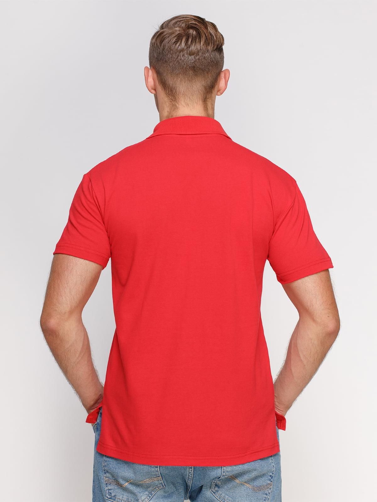Футболка-поло красная | 4578321 | фото 2