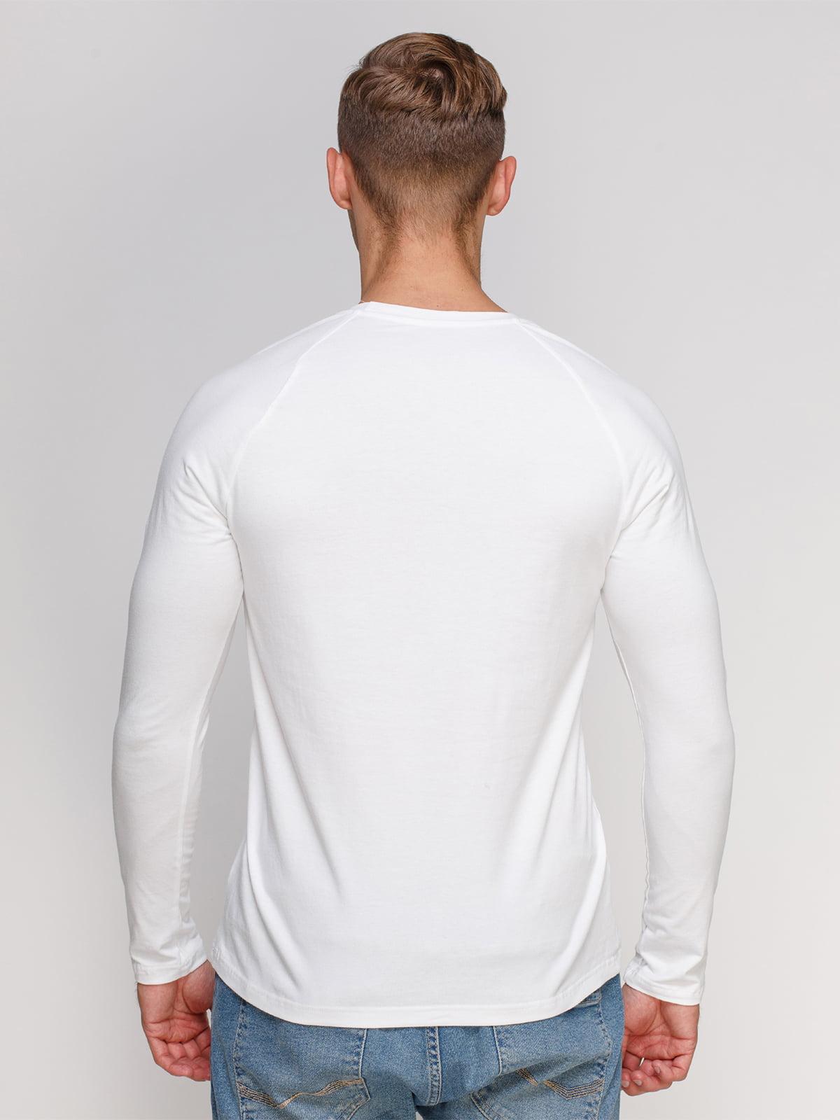 Лонгслів білий з принтом | 4578349 | фото 2